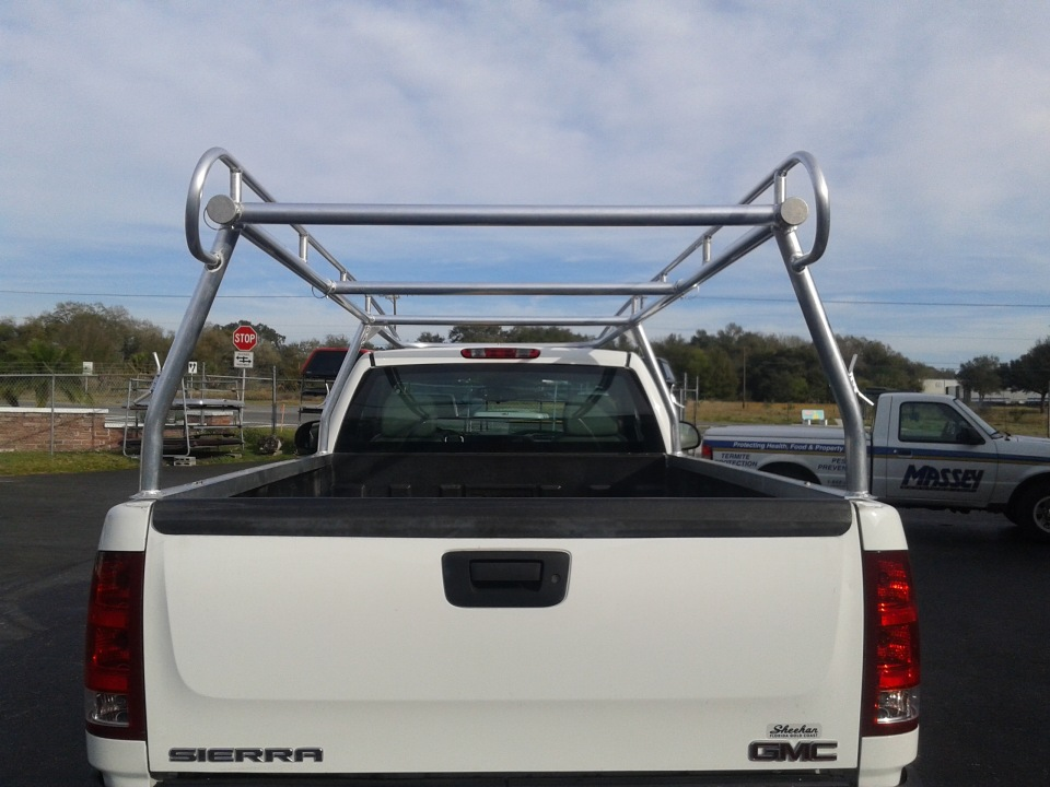 Aluminum truck ladder rack system by Rack it of Florida