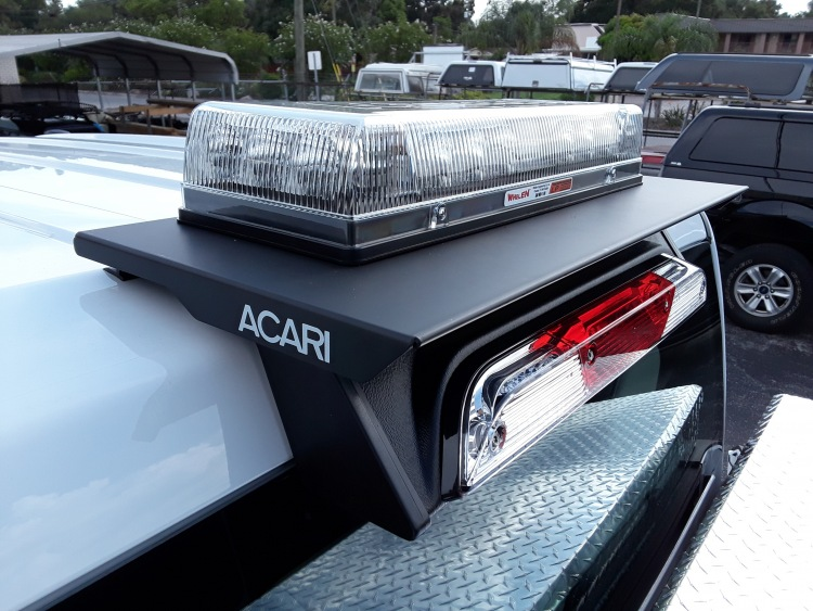 Acari LP series roof top beacon mount 3rd brake light mounts