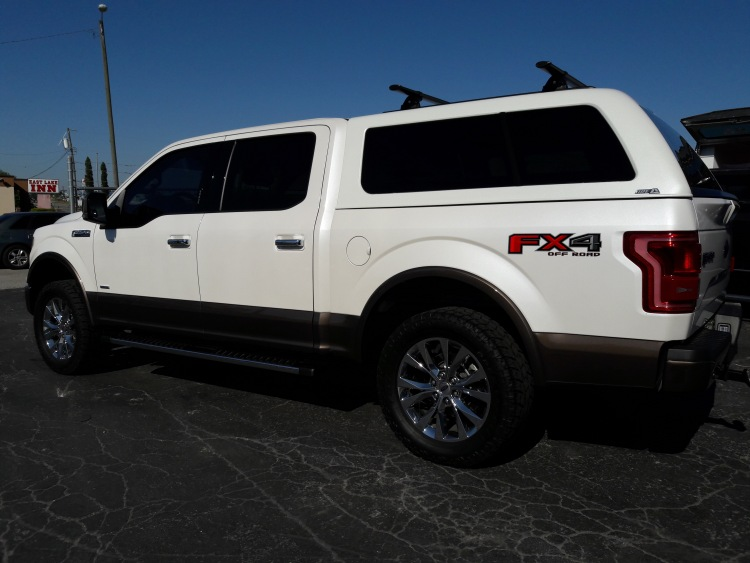 FORD F150 ARE Z SERIES TRUCK CAP w/ Yakima ladder rack