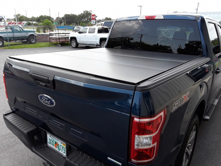 WeatherTech Alloy Cover tri fold hard panel bed tonneau cover