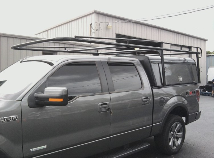ARE DCU Work Topper W/ Ladder Rack & Pull Out Bedslide Combo