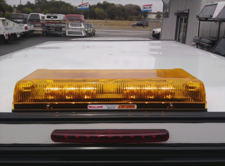 Amber LED beacon roof lights