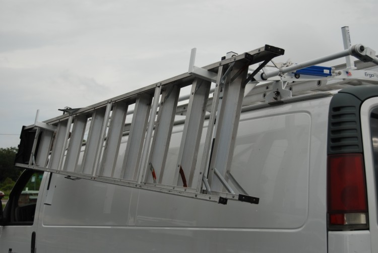 PRIME DESIGN VAN LADDER RACKS ERGO SERIES DROP DOWN LADDER RACK