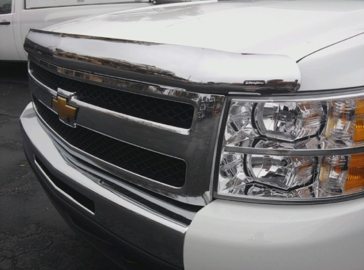 Chrome hood protectors bugshields