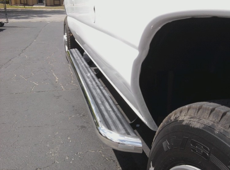 Van running boards