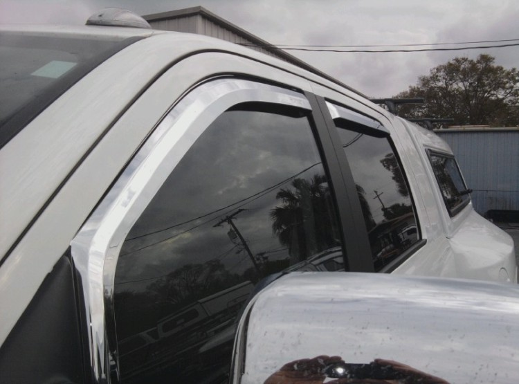 Chrome door vent visor ventshades