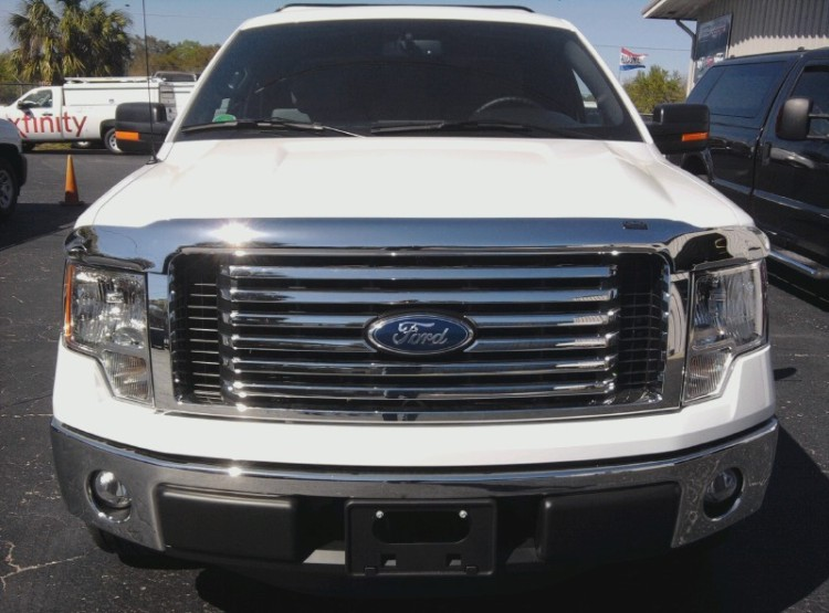 2009-2014 F150 chrome hood bug shield