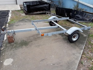 4 x 6 galvanized trailer NEW RIMS AND TIRES
