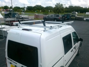 Ford Transit Connect Prime Design Ergo Rack Double Lock Down Ladder Racks