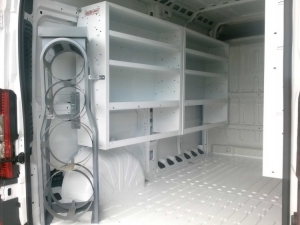 Dodge Ram Promaster Van shelving interior kits