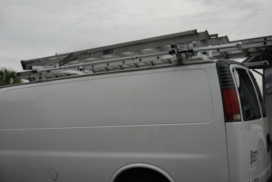 Side Rotation Drop Down van ladder racks