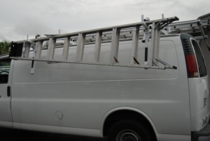 Side Folding Drop Down Van Ladder Racks New Truck